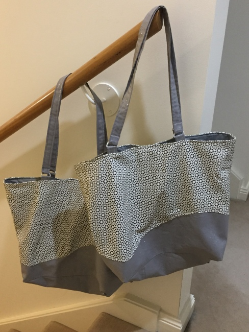 two leather bags